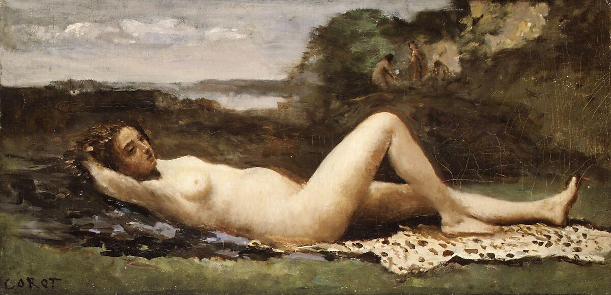 Bacchante in a Landscape, Camille Corot (French, Paris 1796–1875 Paris), Oil on canvas