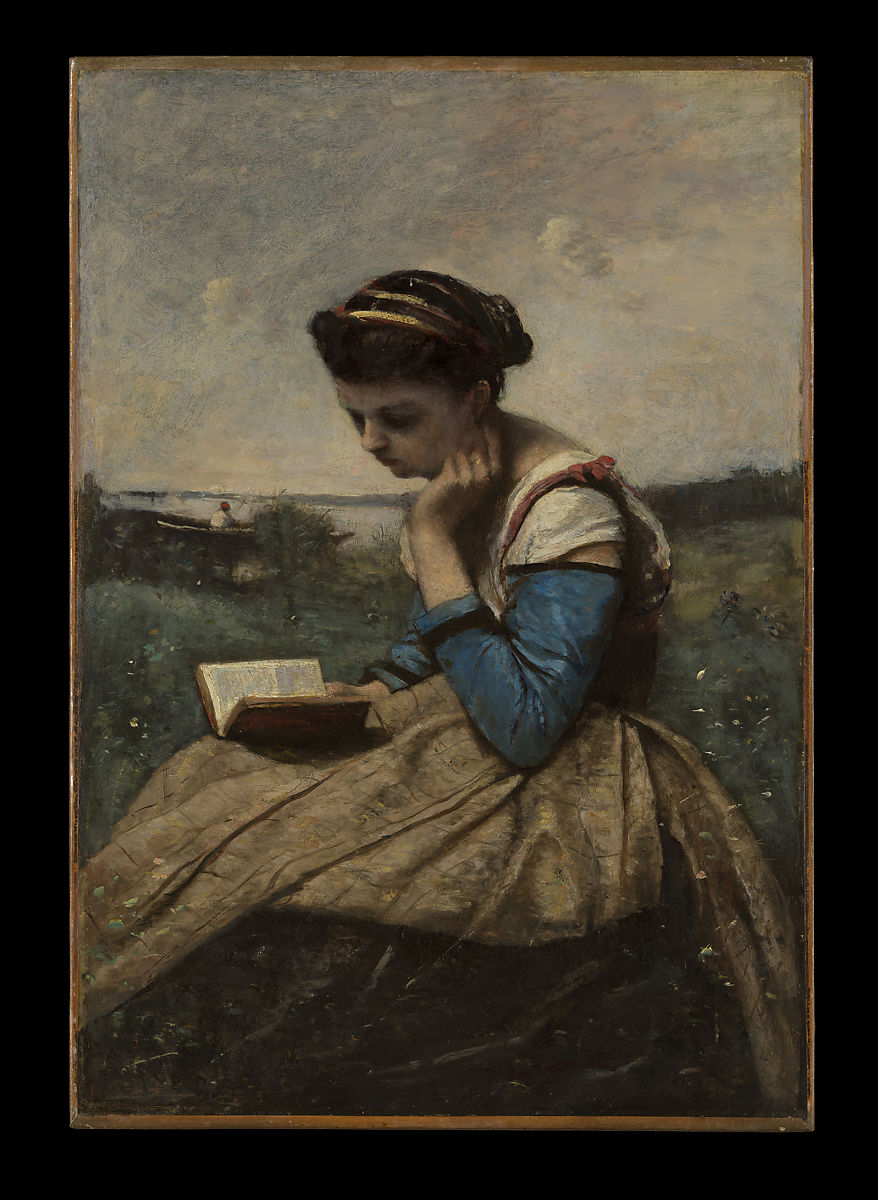 Quote Des Artistes Peintres camille corot | a woman reading | the met