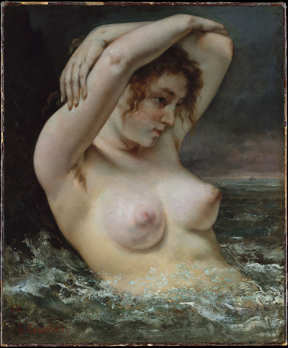 Americane Nude gustave courbet | the woman in the waves | the met