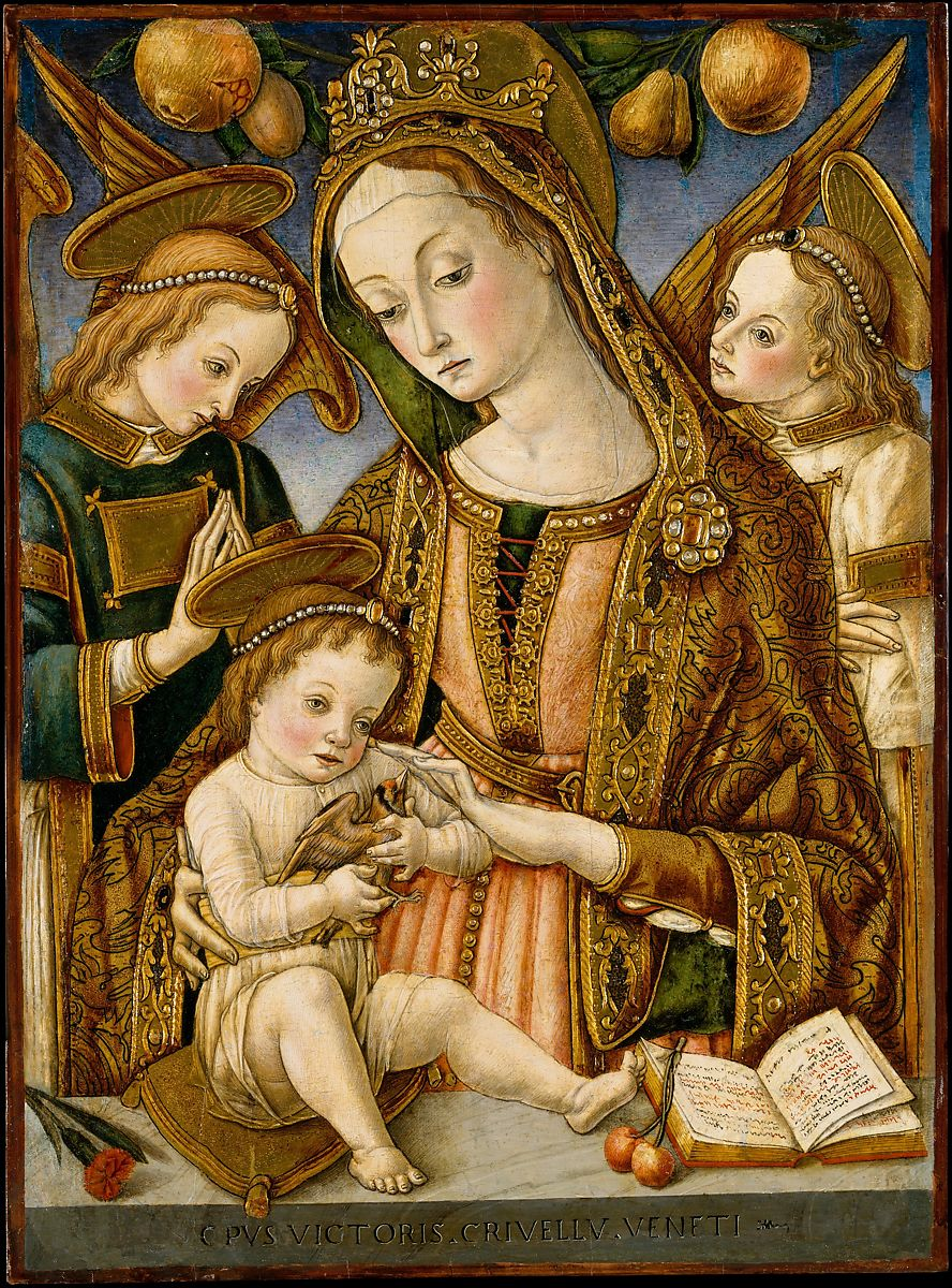 Vittore Crivelli Madonna And Child With Two Angels The Met