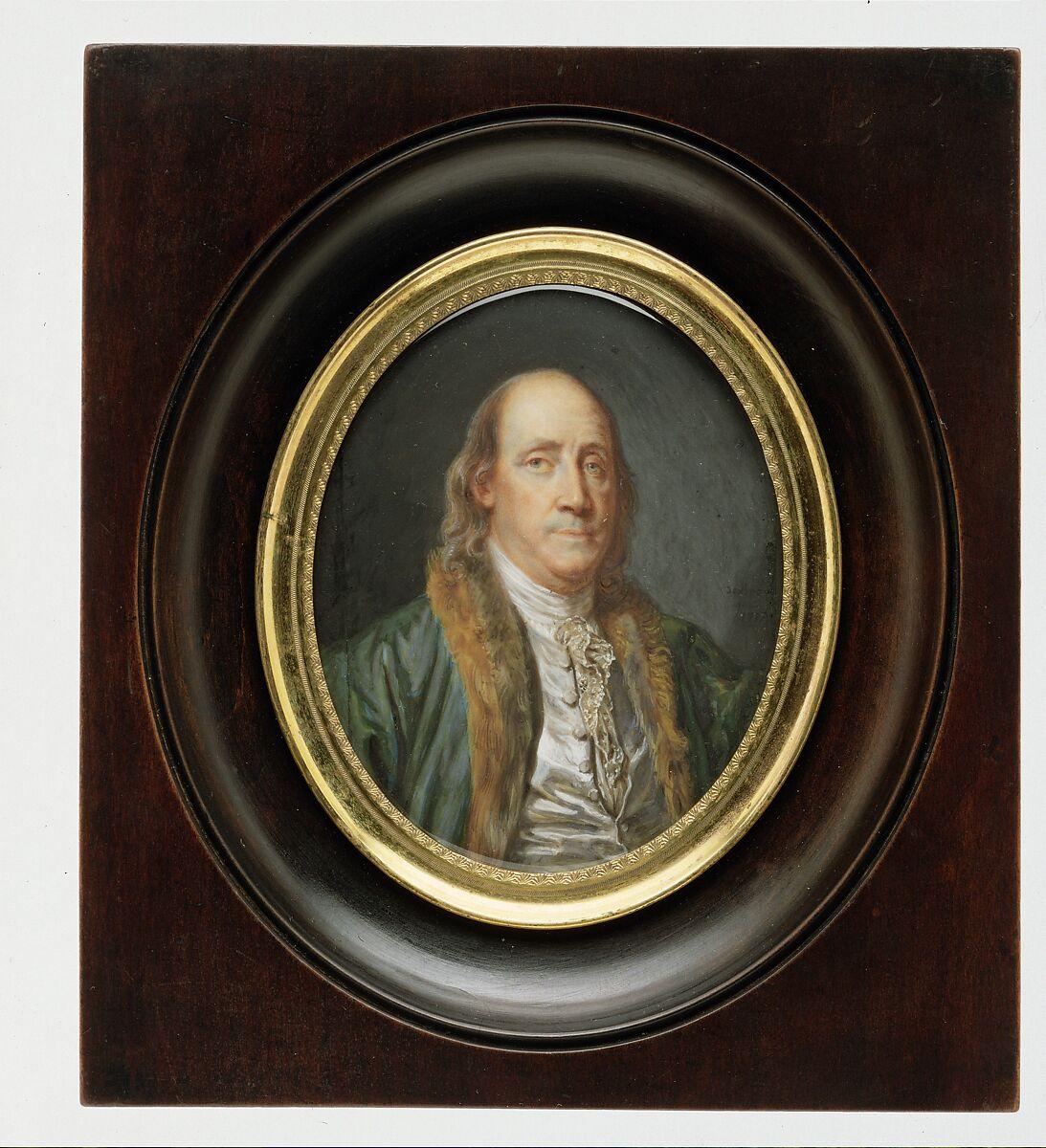 Charles Paul Jérôme de Bréa   Benjamin Franklin (1706–1790), after a Painting by Greuze of 1777   The Met