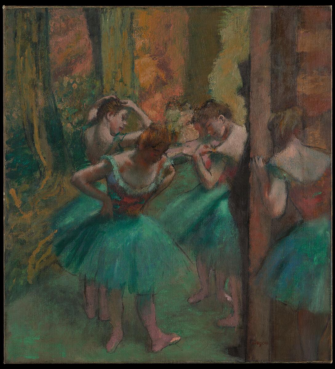 ダンサー、ピンクとグリーン、エドガードガ(フランス、パリ1834〜1917パリ)、キャンバスに油彩