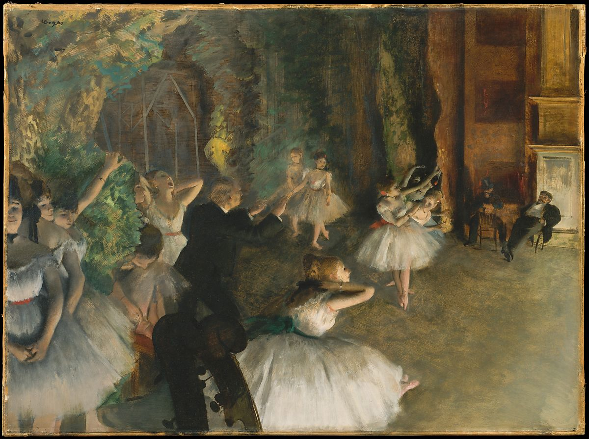 Edgar Degas The Rehearsal Of The Ballet Onstage The Met