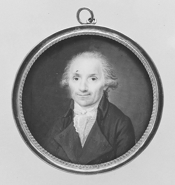 Portrait of a Man, French Painter (ca. 1790), Ivory