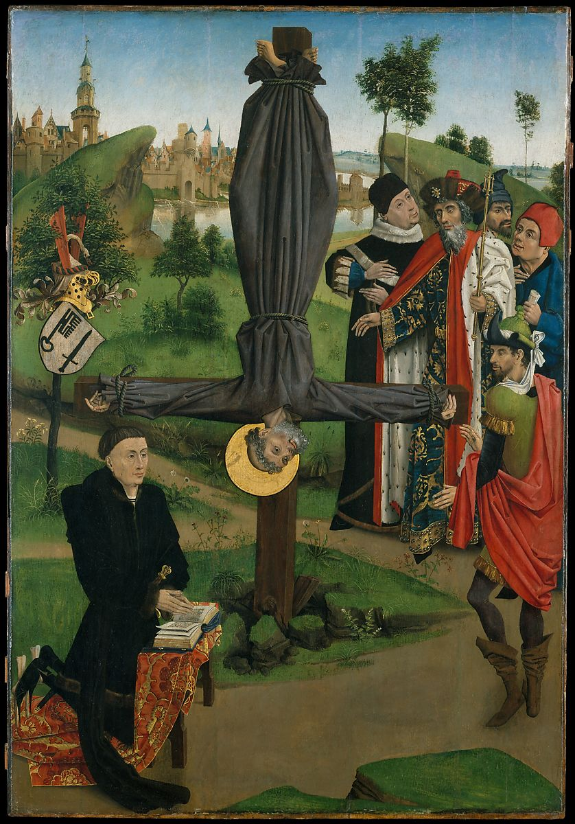 Northern French Painter The Crucifixion Of Saint Peter