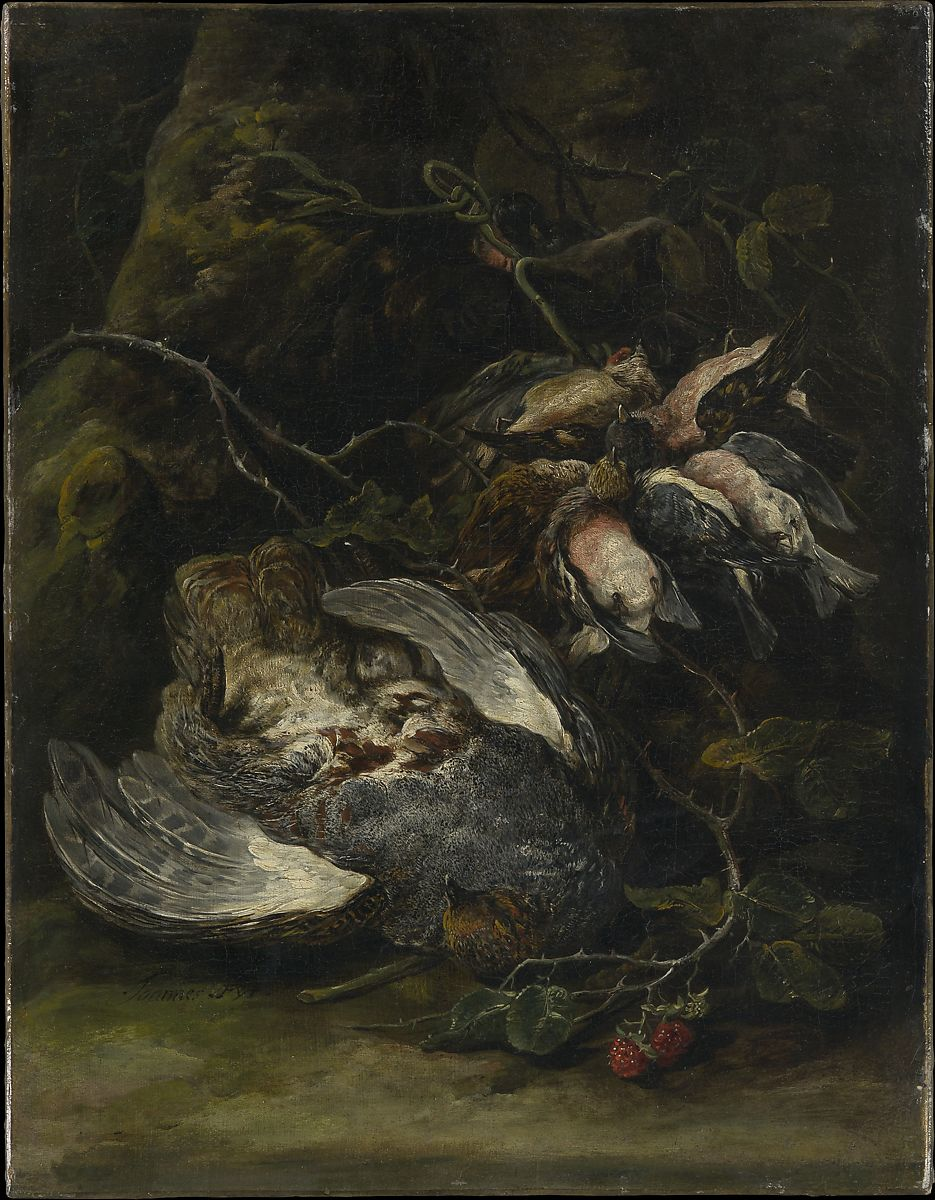 A Partridge and Small Game Birds, Jan Fyt (Flemish, 1611–1661), Oil on canvas
