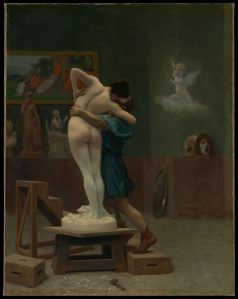 ピグマリオンとガラテア、ジャンレオンジェローム(フランス語、Vesoul 1824–1904パリ)、キャンバスに油彩