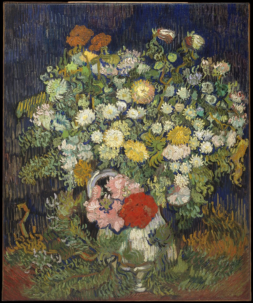Vincent Van Gogh Bouquet Of Flowers In A Vase The Met