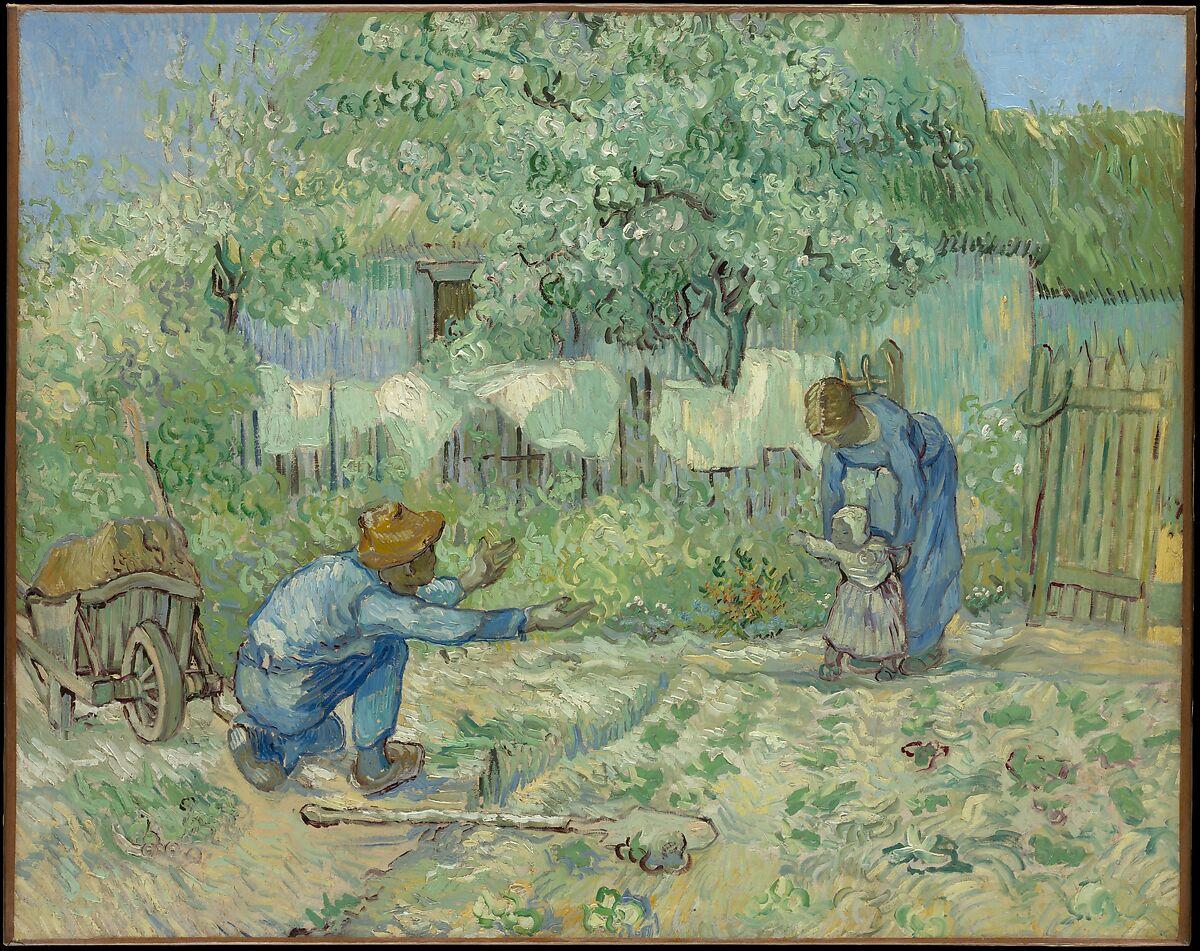 Vincent Van Gogh First Steps After Millet The Met