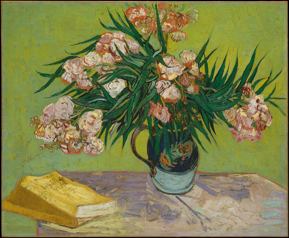 Oleanders, Vincent van Gogh (Dutch, Zundert 1853–1890 Auvers-sur-Oise), Oil on canvas