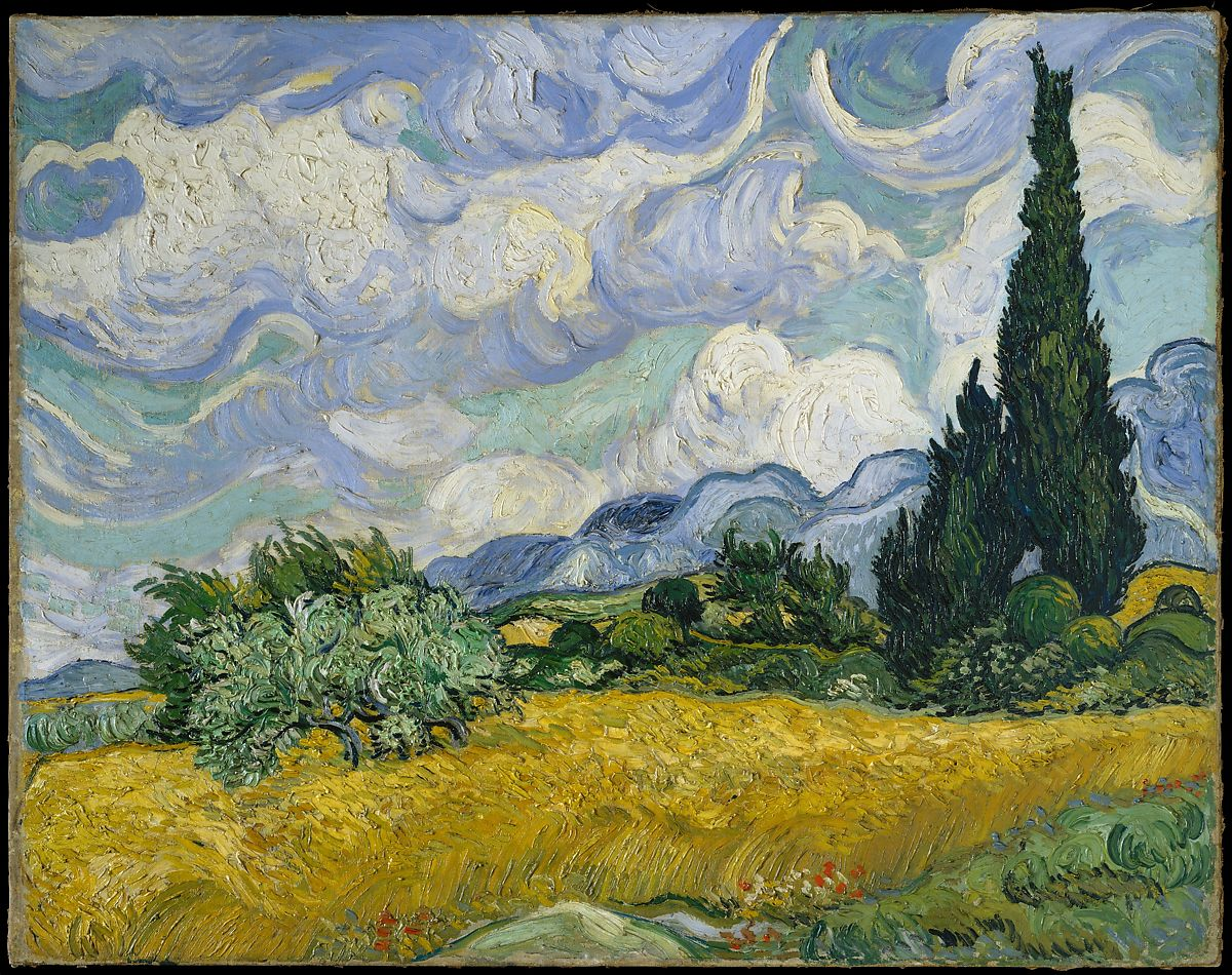 Wheat Field With Cypresses Vincent Van Gogh Dutch Zundert   Auvers