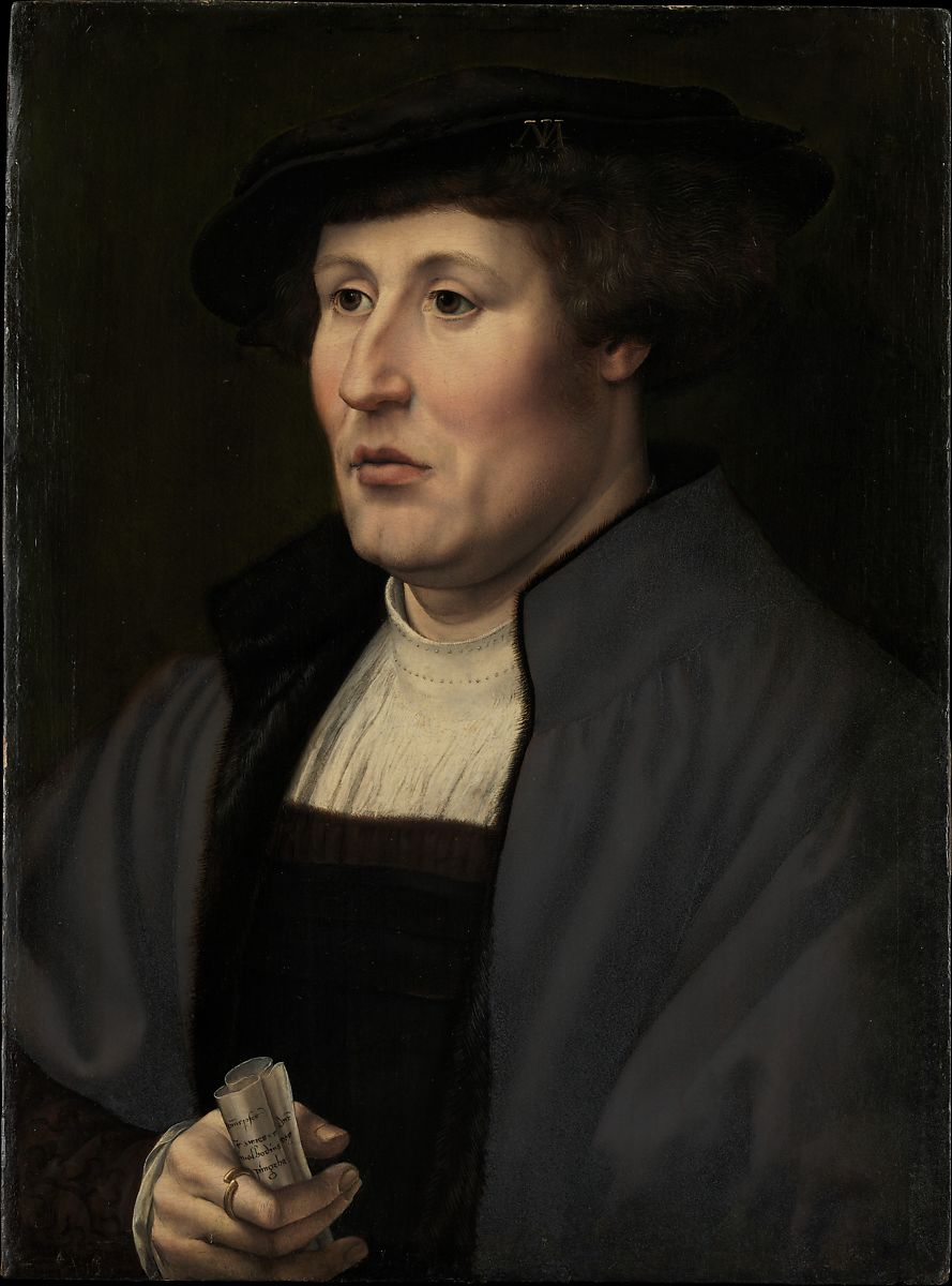 Portrait of a Man, Jan Gossart (called Mabuse) (Netherlandish, Maubeuge ca. 1478–1532 Antwerp (?)), Oil on wood