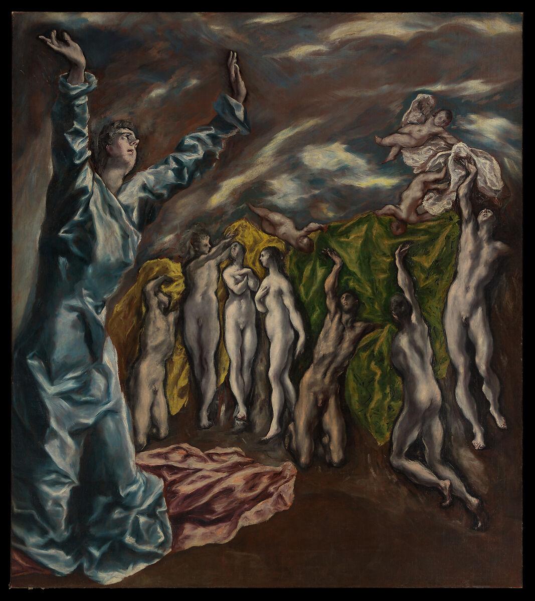 The Vision of Saint John, El Greco (Domenikos Theotokopoulos) (Greek, Iráklion (Candia) 1541–1614 Toledo), Oil on canvas