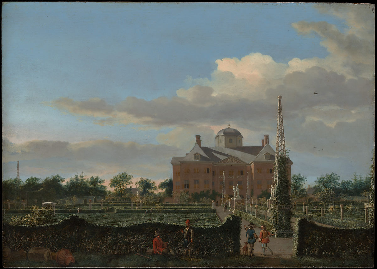 Jan van der Heyden | The Huis ten Bosch at The Hague and Its Formal Garden (View from the South) | The Met