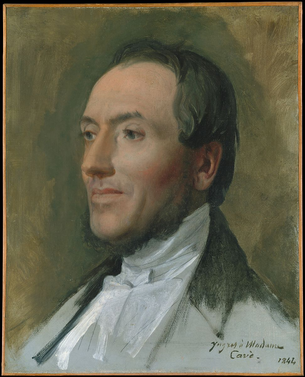 Edmond Cavé (1794–1852), Jean Auguste Dominique Ingres (French, Montauban 1780–1867 Paris), Oil on canvas