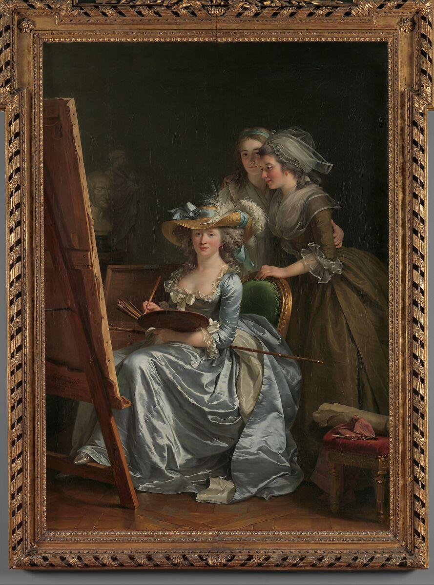 Quote Des Artistes Peintres adélaïde labille-guiard | self-portrait with two pupils