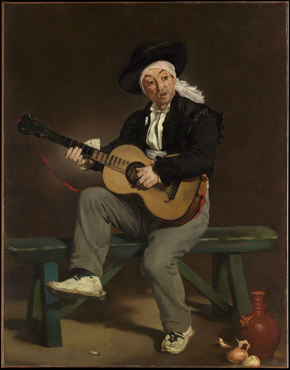 スペインの歌手、エドゥアールマネ(フランス、パリ1832〜1883パリ)、キャンバスに油彩