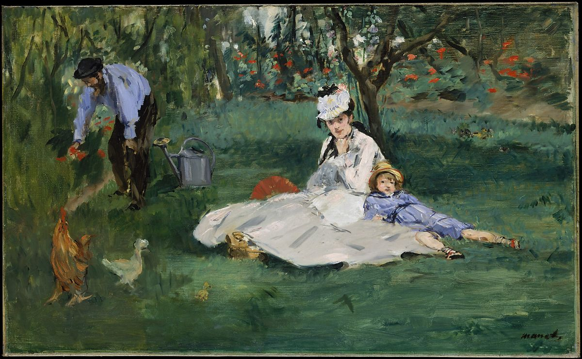 The Monet Family In Their Garden At Argenteuil, Édouard Manet (French,  Paris 1832