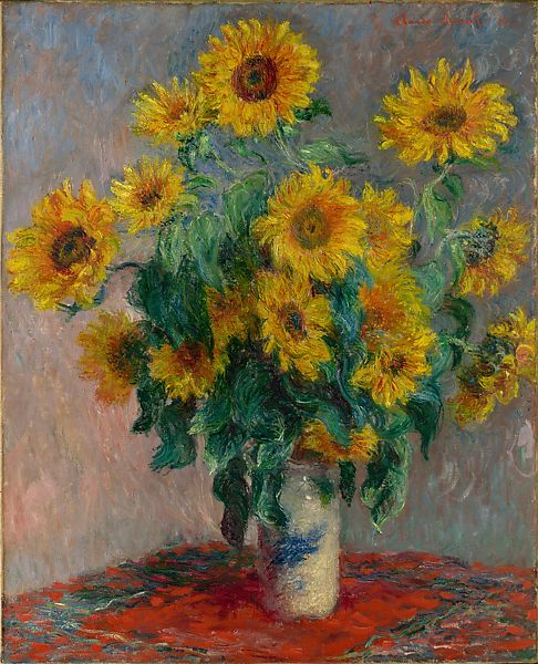 Claude Monet Bouquet Of Sunflowers The Met