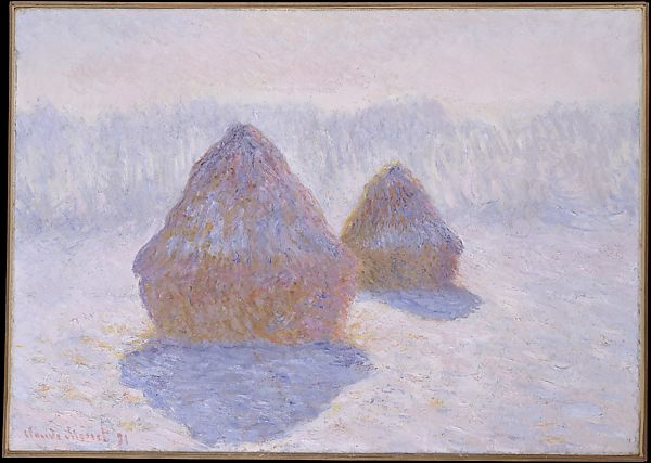 Claude Monet | Haystacks (Effect of Snow and Sun) | The Met