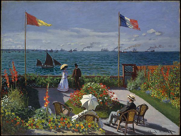 Claude Monet Garden At Sainte Adresse The Met