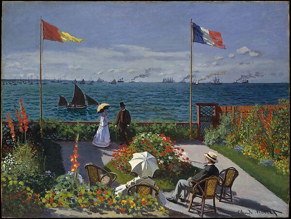 Claude Monet Garden At Sainte Adresse The Metropolitan Museum Of Art