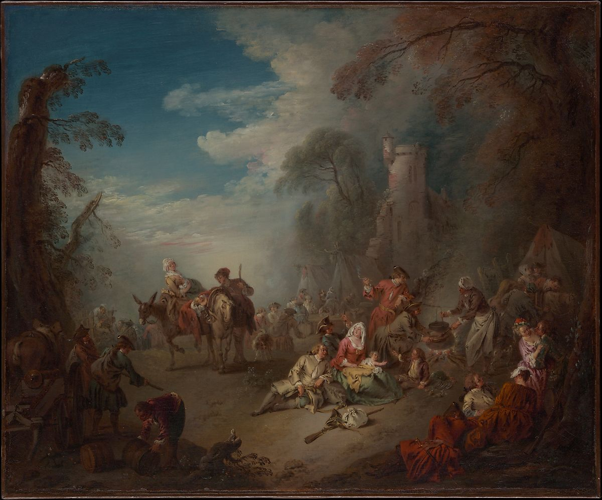 Jean-Baptiste Joseph Pater | Troops at Rest | The Met