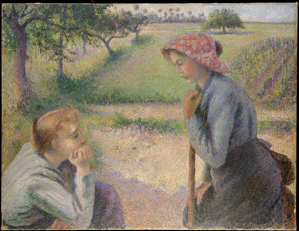 Christopher Pea Paint   Camille Pissarro Two Young Peasant Women The Met