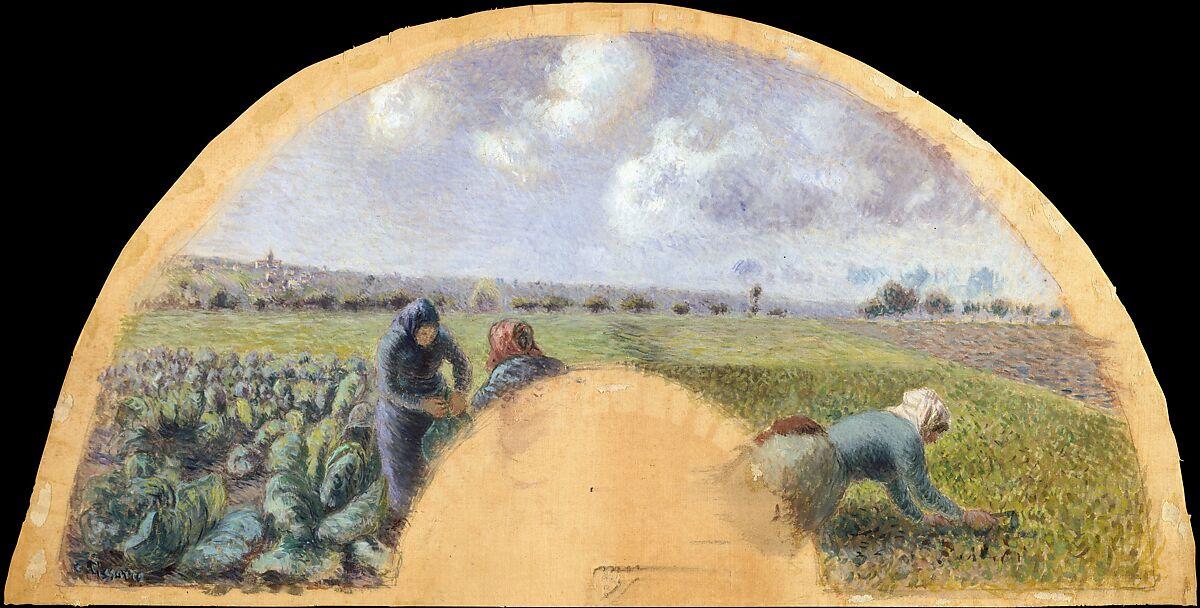 ファンマウント:キャベツギャザラー、カミーユピサロ(フランス、シャーロットアマリエ、セントトーマス1830〜1903パリ)、シルクのガッシュ