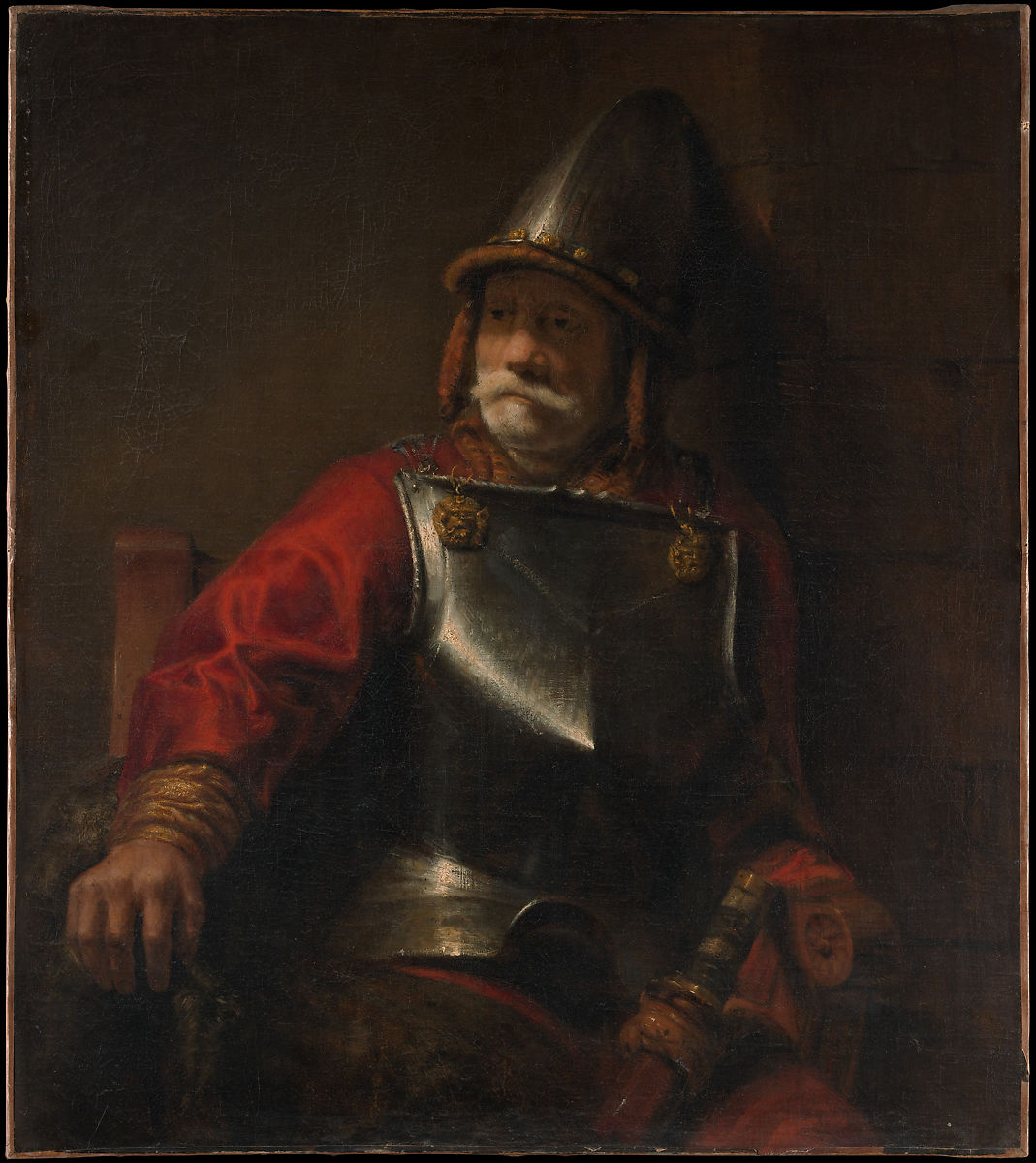 style of rembrandt man in armor mars the met