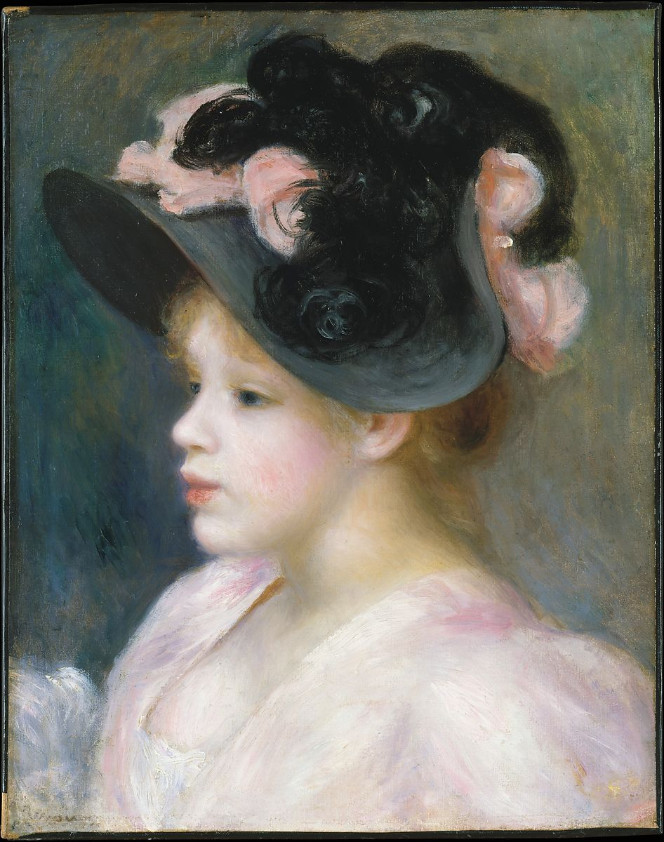 Auguste Renoir | Young Girl in a Pink-and-Black Hat | The Met