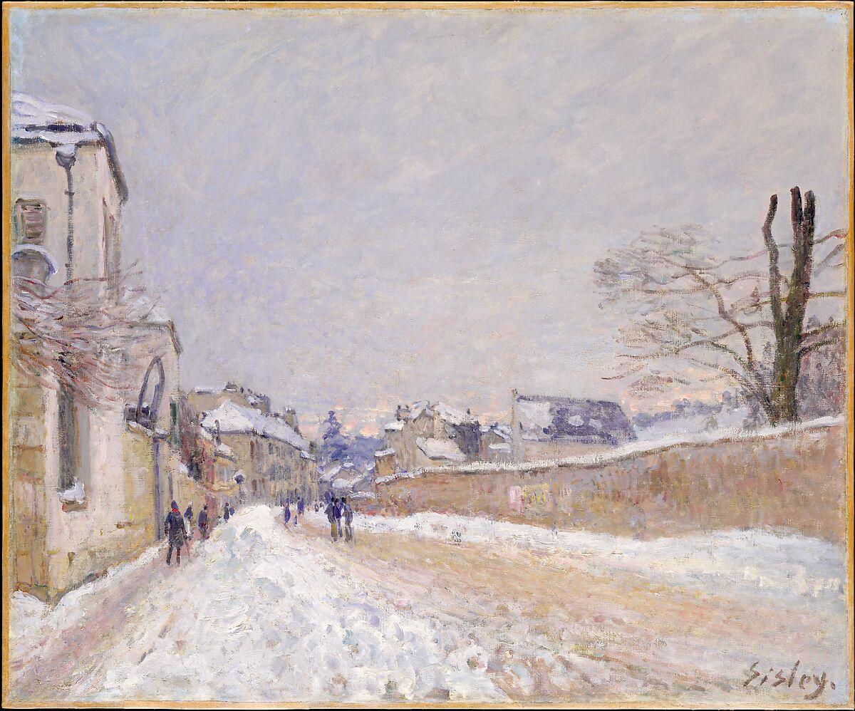 Work Van For Sale >> Alfred Sisley   Rue Eugène Moussoir at Moret: Winter   The Met