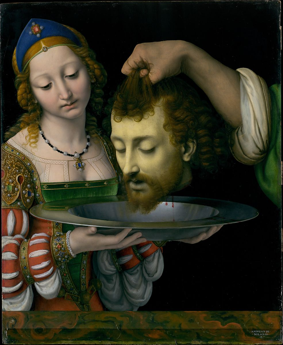 Salome with the Head of Saint John the Baptist, Andrea Solario (Italian, Milan ca. 1465–1524 Milan), Oil on wood