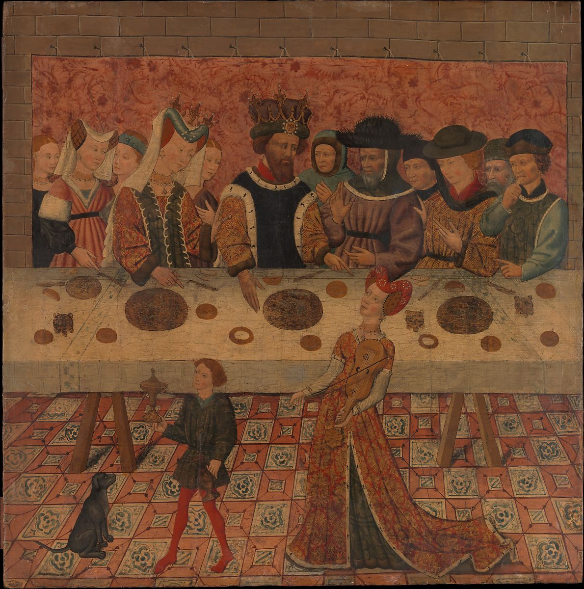 Salome Dancing before Herod, Spanish (Catalan) Painter (mid-15th century), Tempera and gold on wood