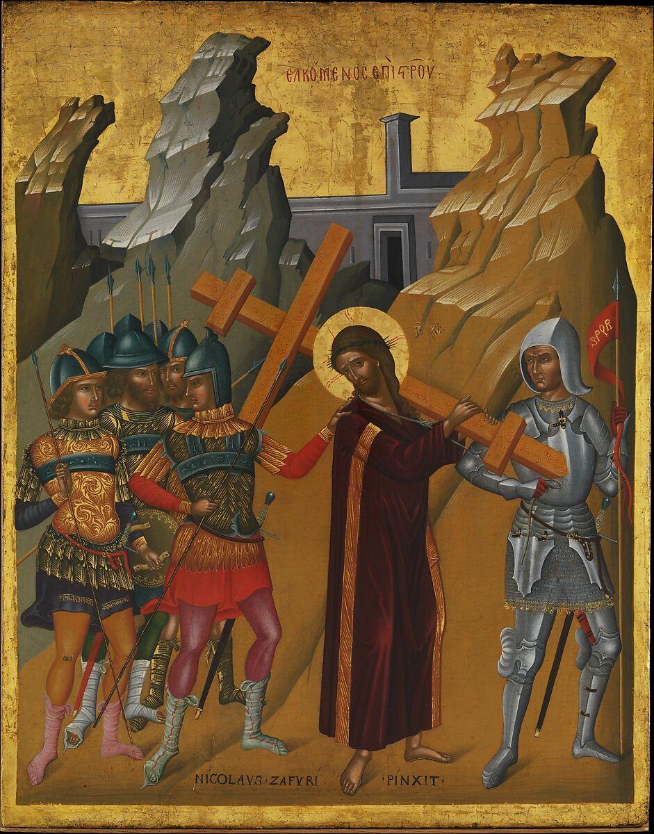 Nicolaos Tzafouris | Christ Bearing the Cross | The Met