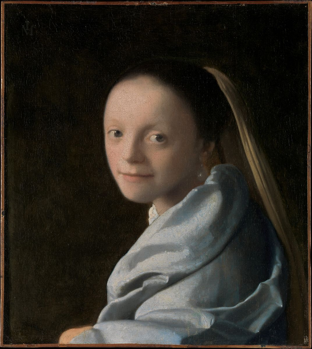 Study of a Young Woman, Johannes Vermeer (Dutch, Delft 1632–1675 Delft), Oil on canvas