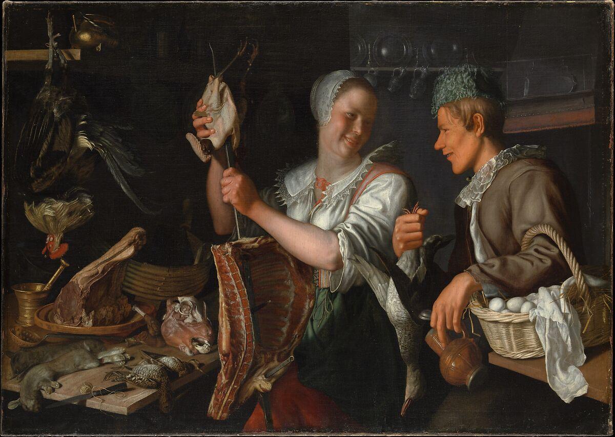 Kitchen Art Leiden.Peter Wtewael Kitchen Scene The Met