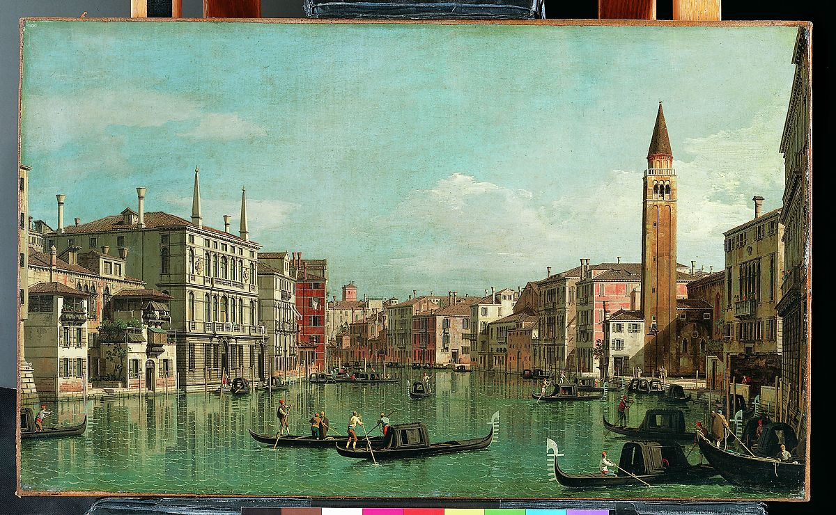Canaletto (Giovanni Antonio Canal) | The Grand Canal, Venice, Looking Southeast, with the Campo della Carità to the Right | The Met