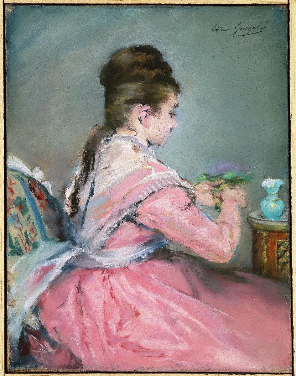 Mary Chaplin Artiste Peintre eva gonzalès   the bouquet of violets   the met