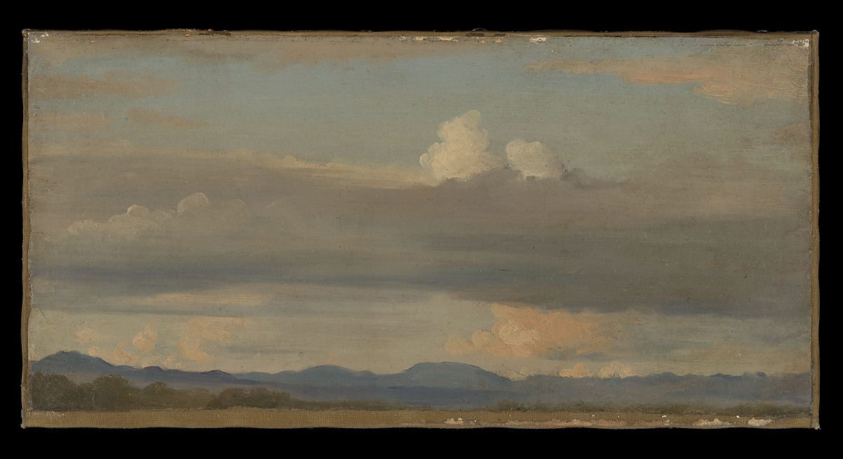 Alexandre Desgoffe | Cloud Study with Distant Mountains