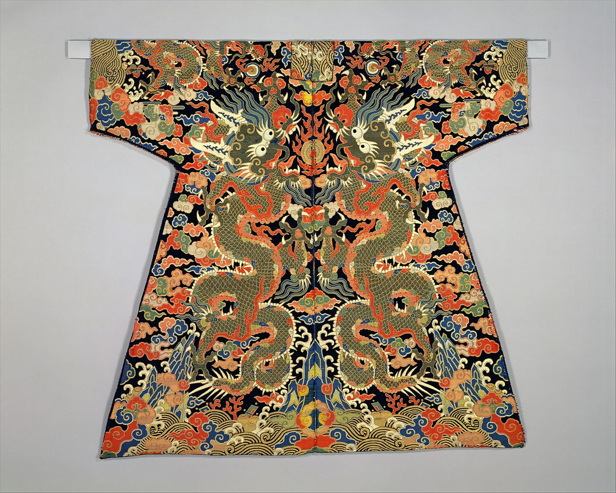 Velvet Textile For A Dragon Robe China Qing Dynasty 1644 1911 The Metropolitan Museum Of Art