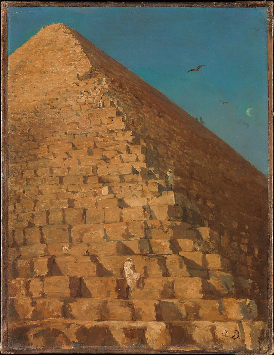 Adrien Dauzats | The Great Pyramid, Giza | The Met