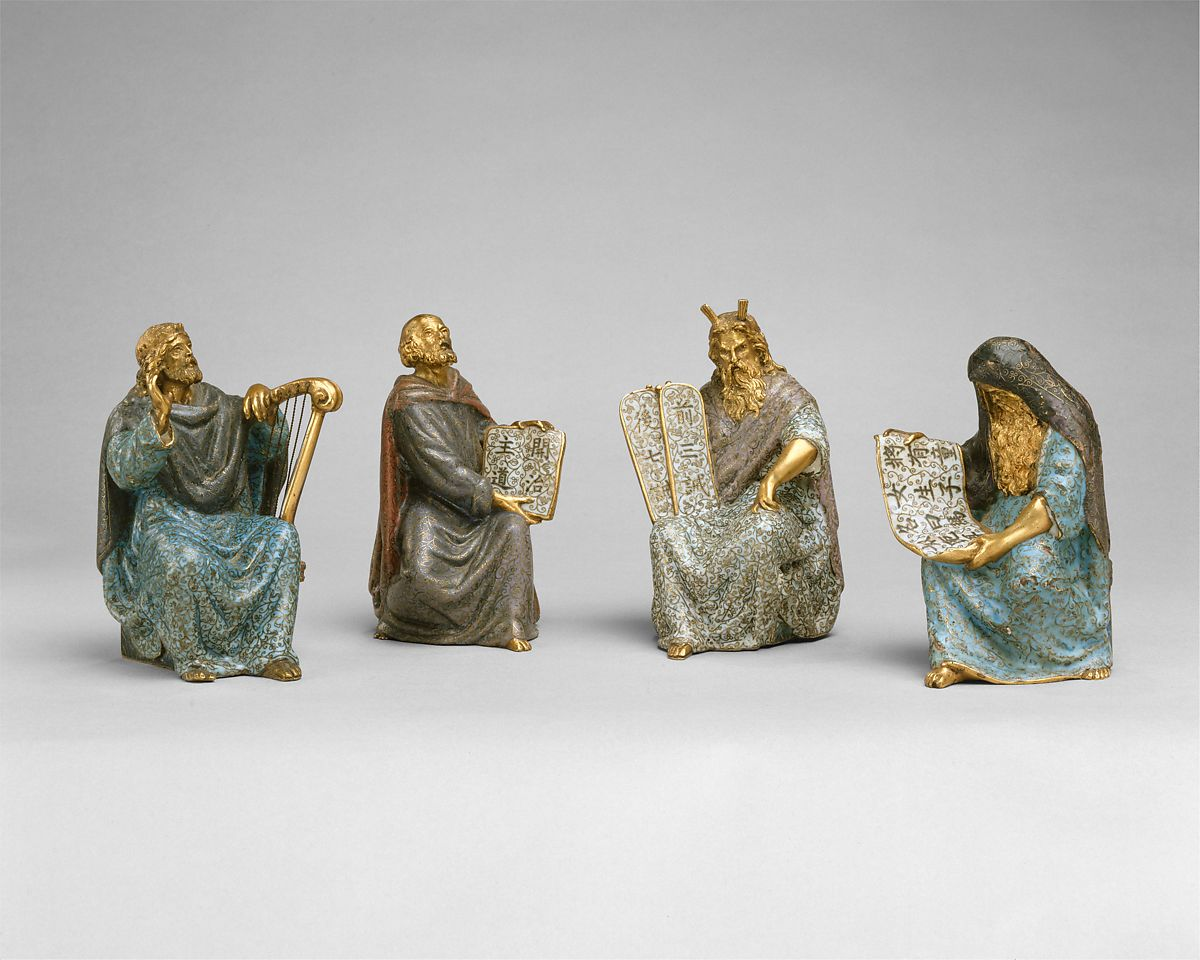 Old Testament Figures, Cloisonné enamel, China