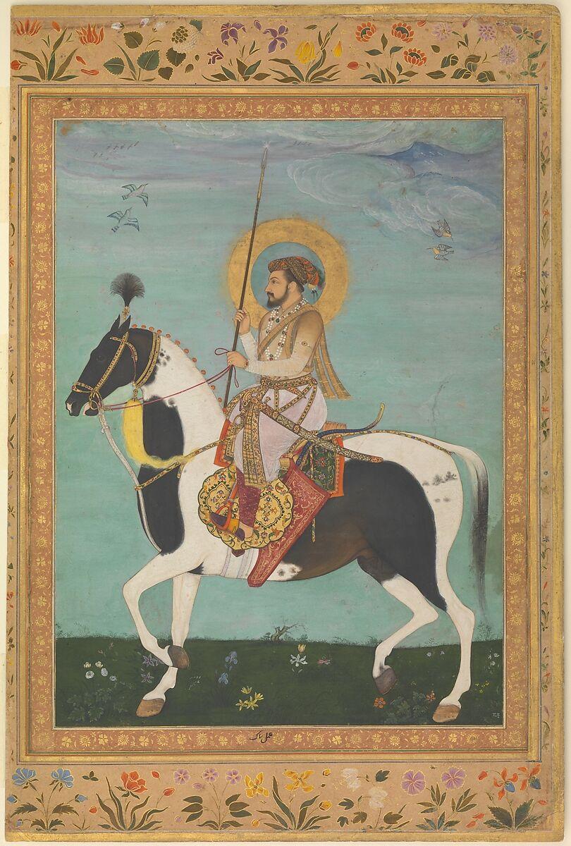 Painting By Payag Shah Jahan On Horseback Folio From The Shah Jahan Album The Metropolitan Museum Of Art