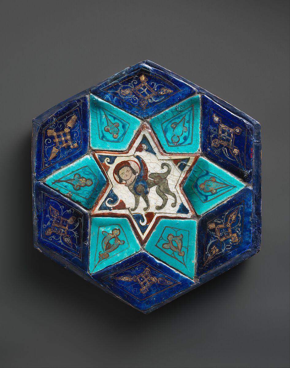 Hexagonal Tile Ensemble with Sphinx   The Met