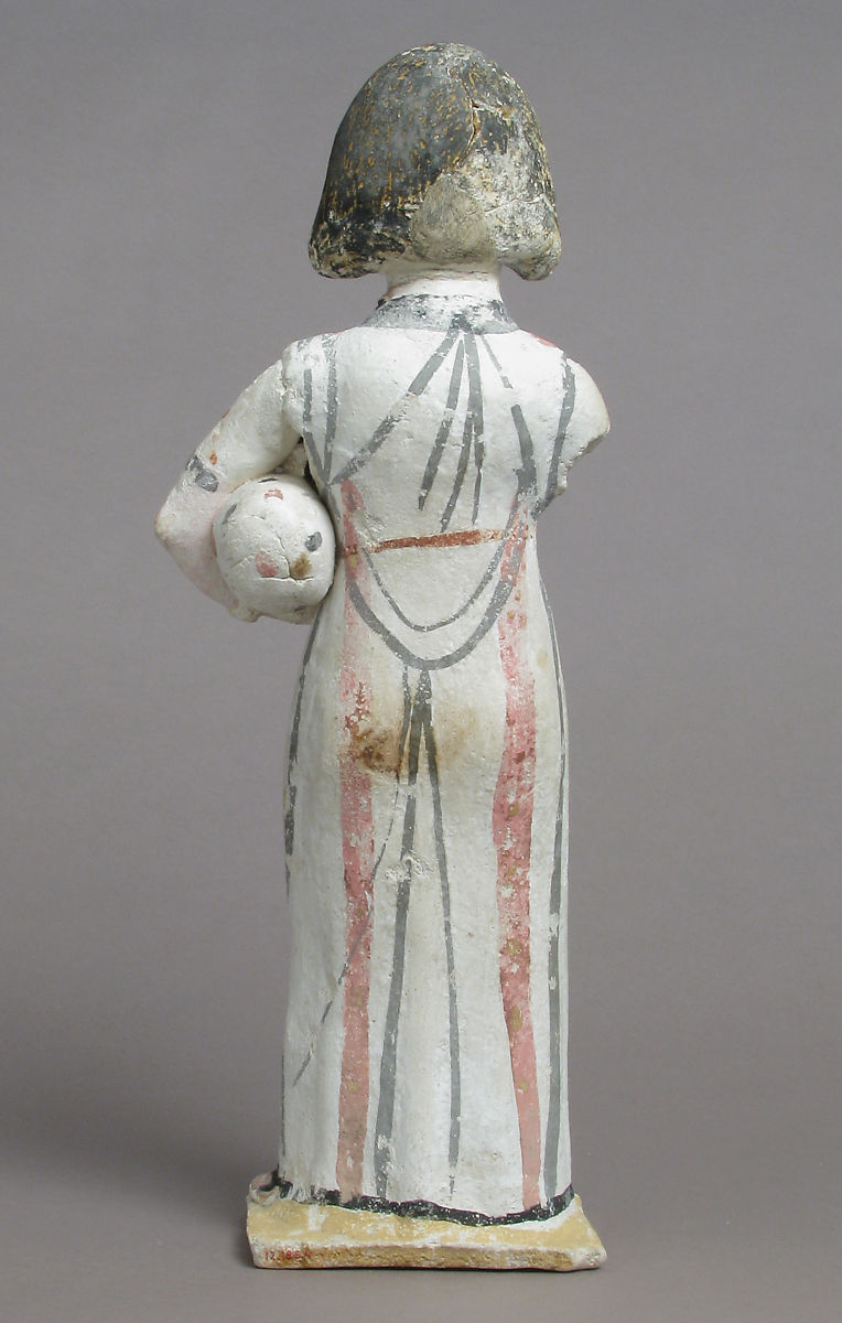Figure of a Woman, Painted plaster
