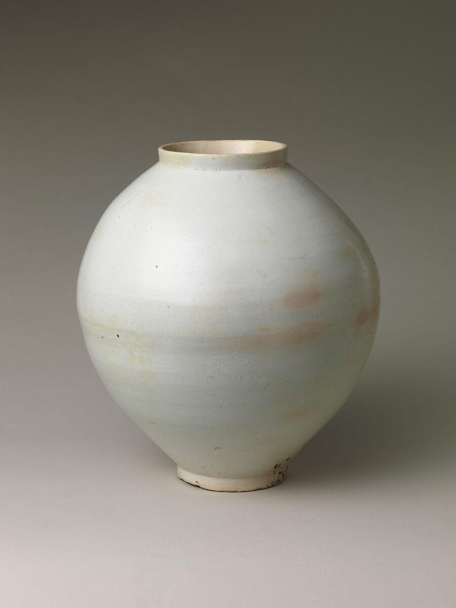 Moon Jar Korea Joseon Dynasty 1392 1910 The Met