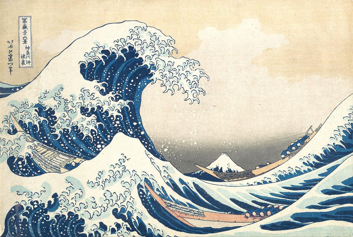 Kacušika Hokusai – Veľká vlna pri pobreží Kanagawy, 1830–1832, Metropolitan museum of Art