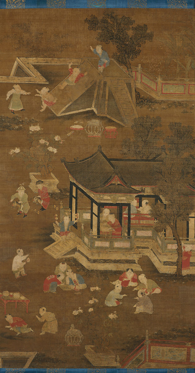 Unidentified Artist | Children playing in the palace garden | China ...