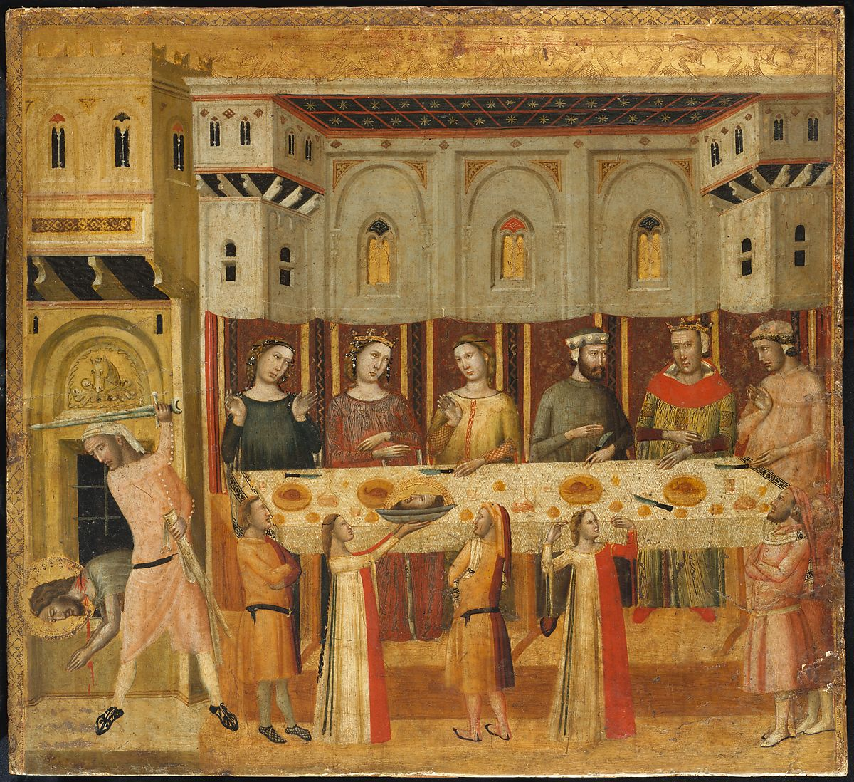 Giovanni Baronzio The Feast Of Herod And The Beheading